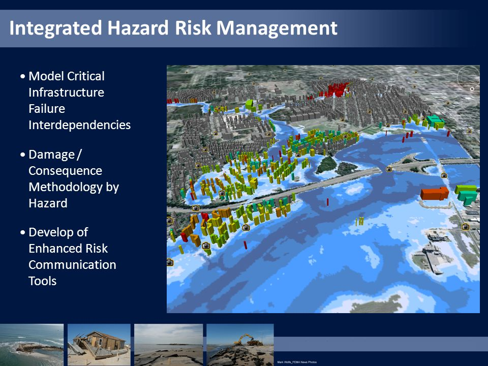Model Critical Infrastructure Failure Interdependencies Damage / Consequence Methodology by Hazard Develop of Enhanced Risk Communication Tools Integr
