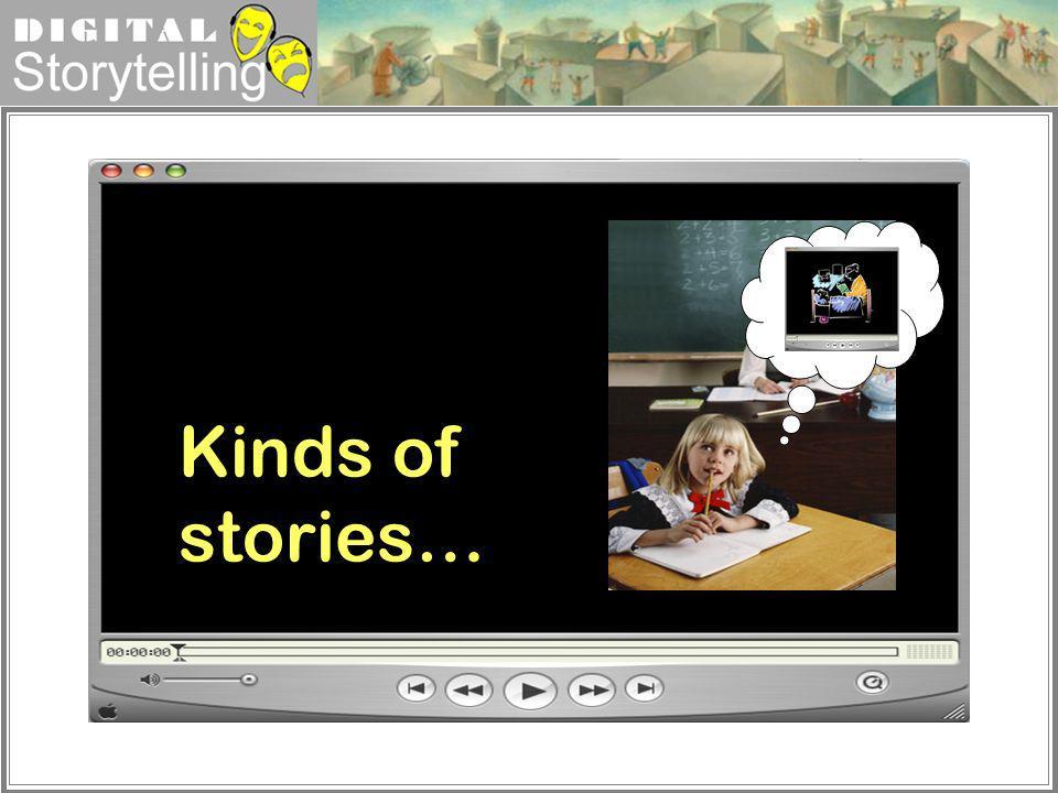 Digital Storytelling Kinds of stories…