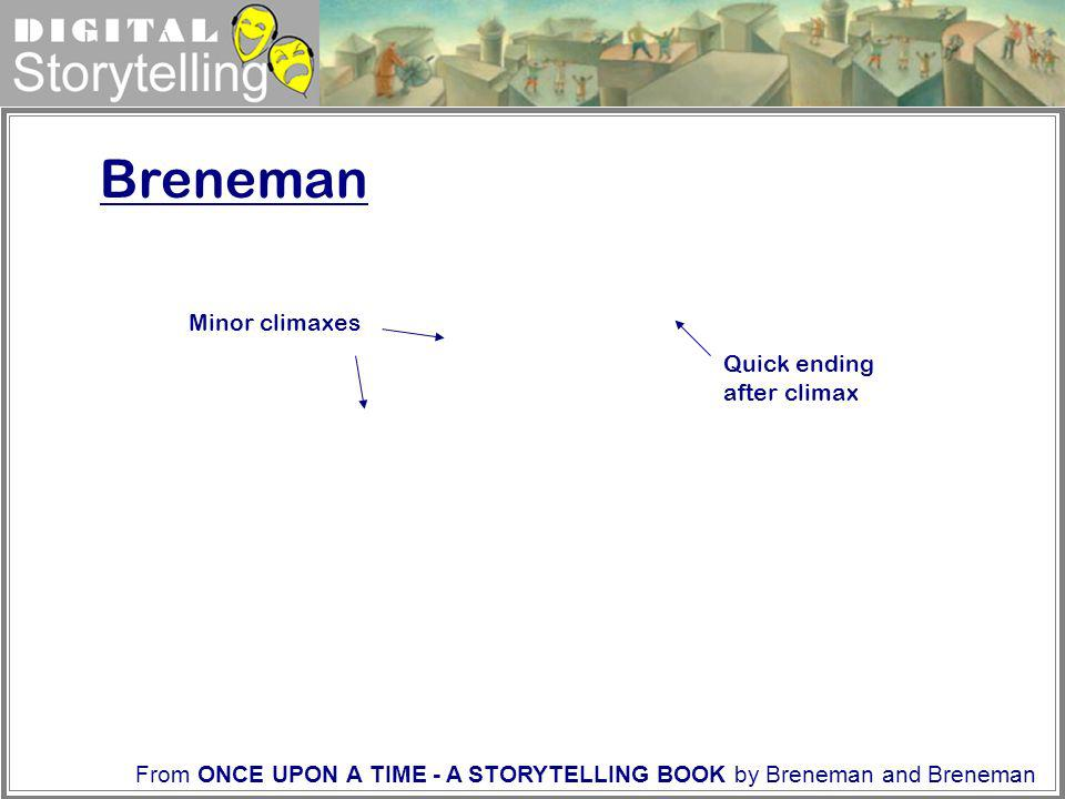 Digital Storytelling Breneman Minor climaxes Quick ending after climax From ONCE UPON A TIME - A STORYTELLING BOOK by Breneman and Breneman