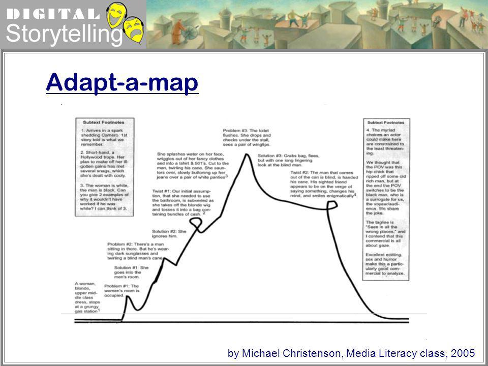 Digital Storytelling Adapt-a-map by Michael Christenson, Media Literacy class, 2005