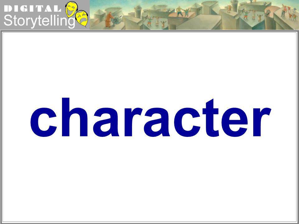 Digital Storytelling character