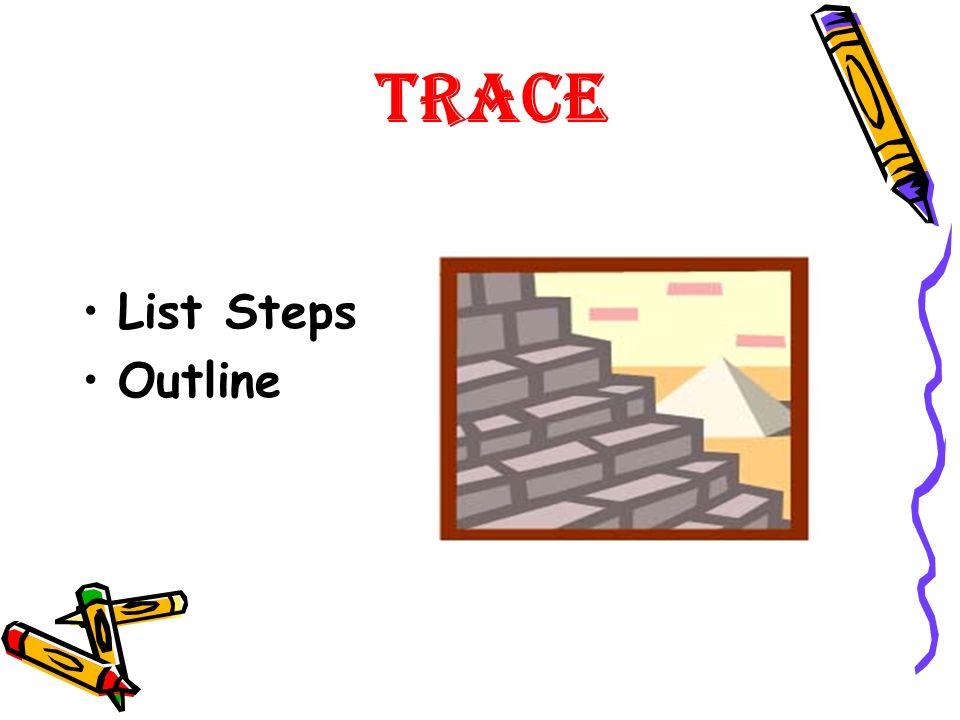 Trace List Steps Outline