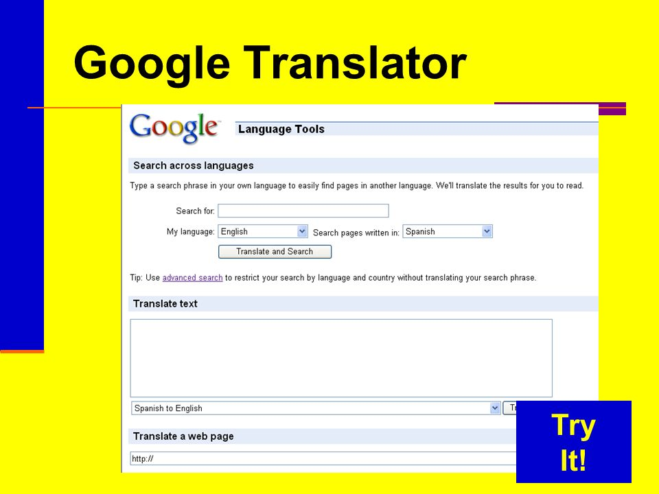 Google Translator Try It!