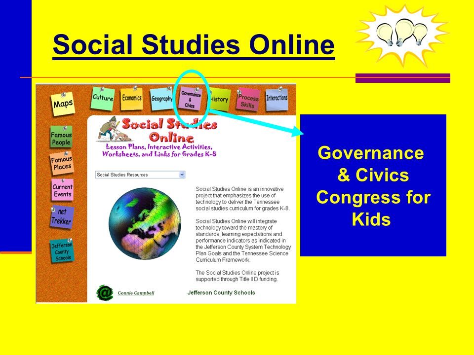 Social Studies Online Governance & Civics Congress for Kids