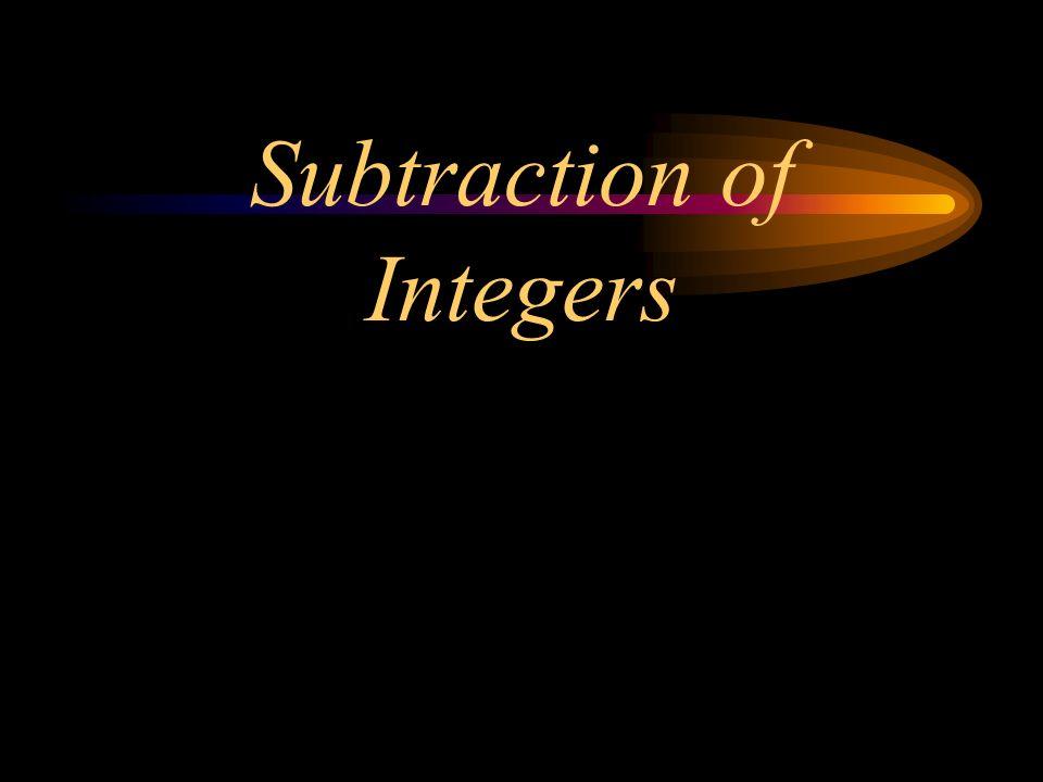 Subtraction of Integers