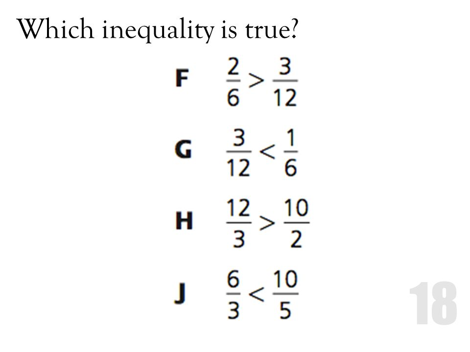 Which inequality is true?