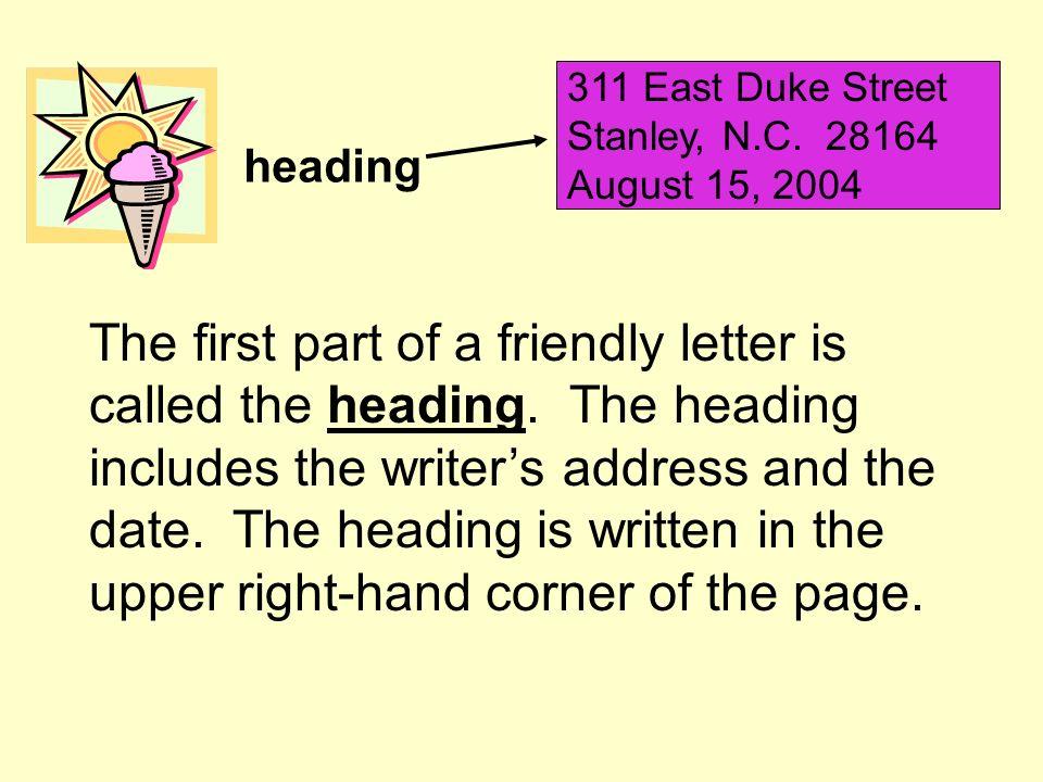 heading 311 East Duke Street Stanley, N.C.