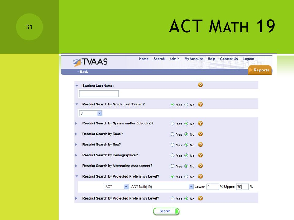 ACT M ATH 19 30 Click Add Students