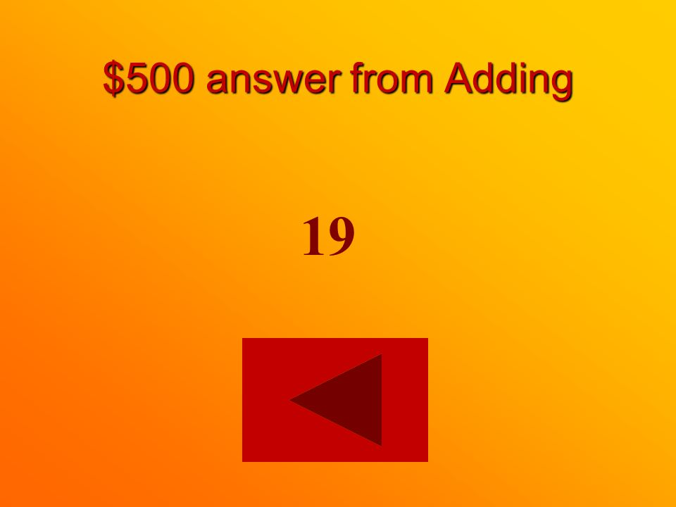 $500 question from Adding 15 4 =