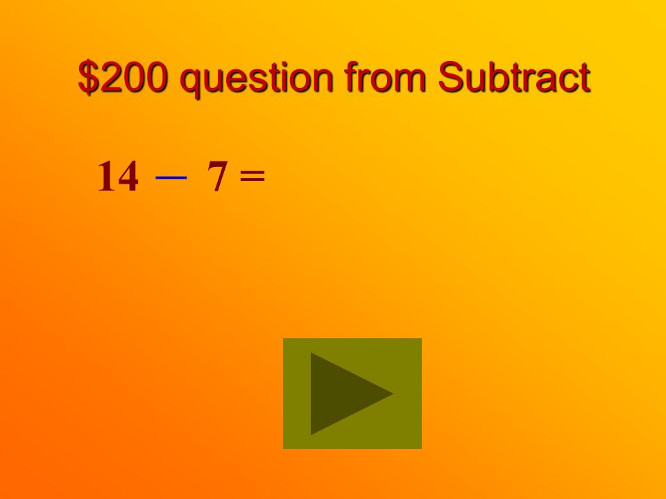 $100 answer from Subtract 3