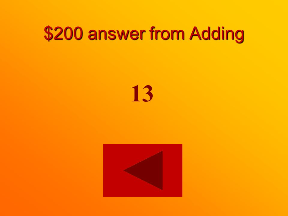$200 answer from Adding 13