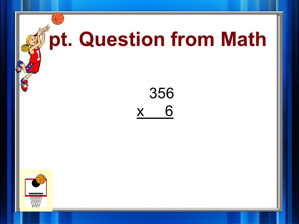 5 pt. Answer from Geometry radius