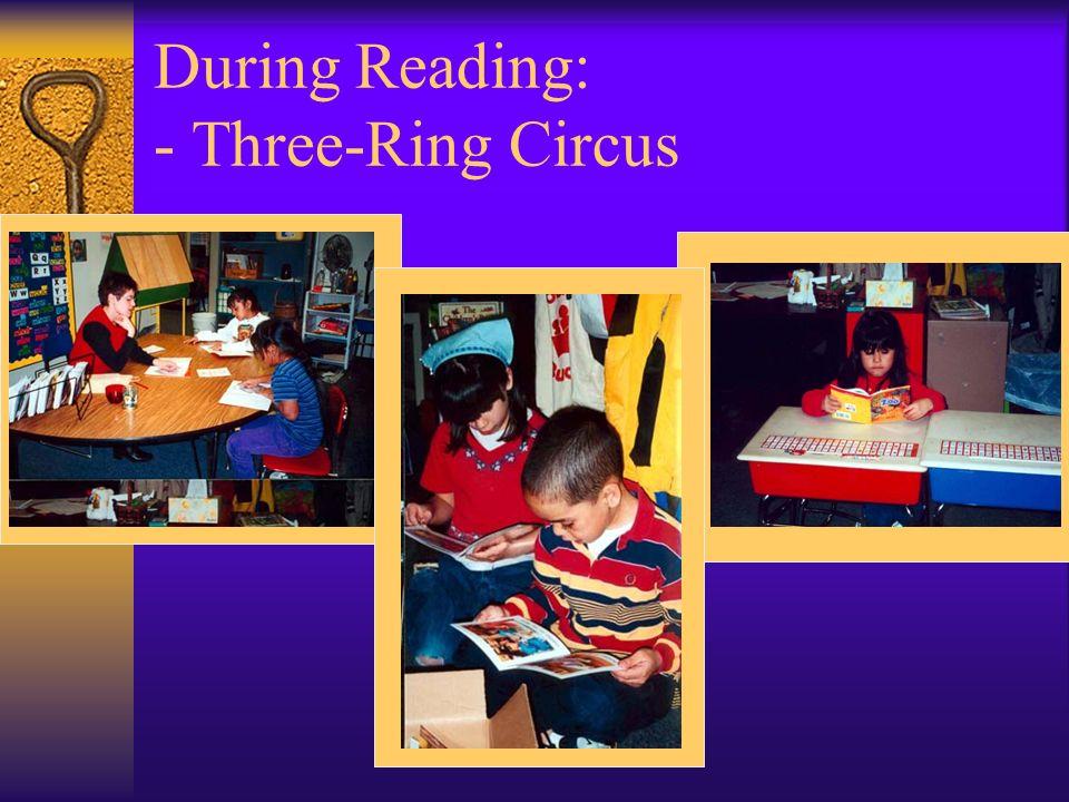 During Reading: - Three-Ring Circus