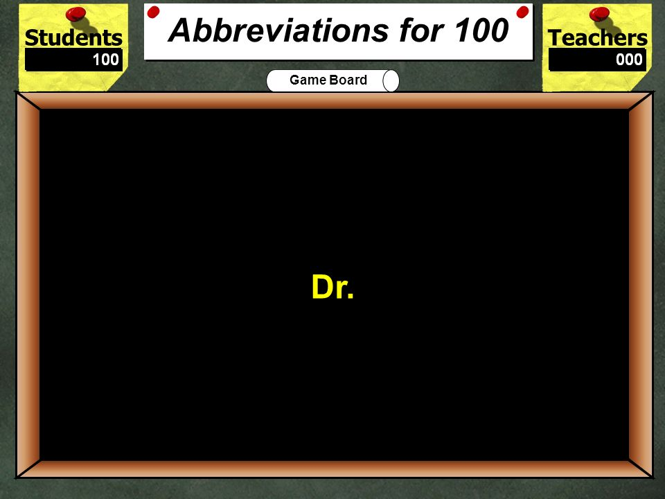 StudentsTeachers Game Board I need some new shoes. 500 Declarative Kinds of Sentences for 500