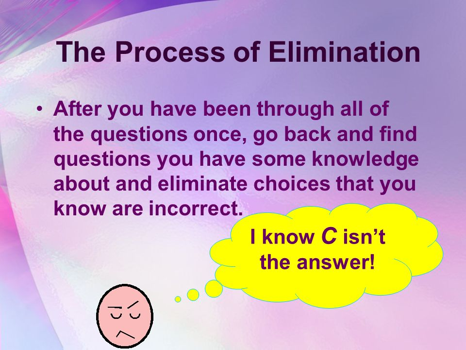 Multiple Choice Questions Do not change your answers unless you are very uncertain about your first answer choice. Try to answer every question. Make