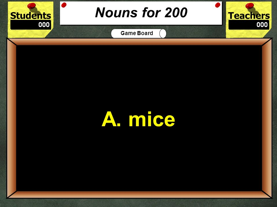 StudentsTeachers Game Board Which part of the sentence below contains a punctuation error.