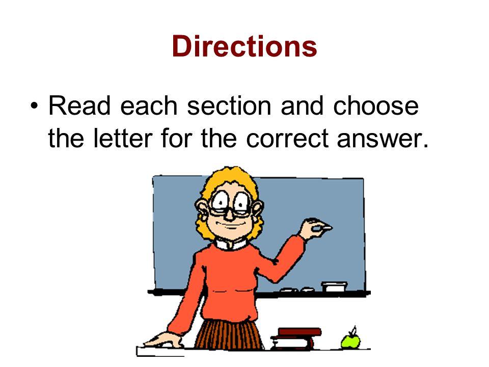 Third Grade Achievement Test Review Language Arts