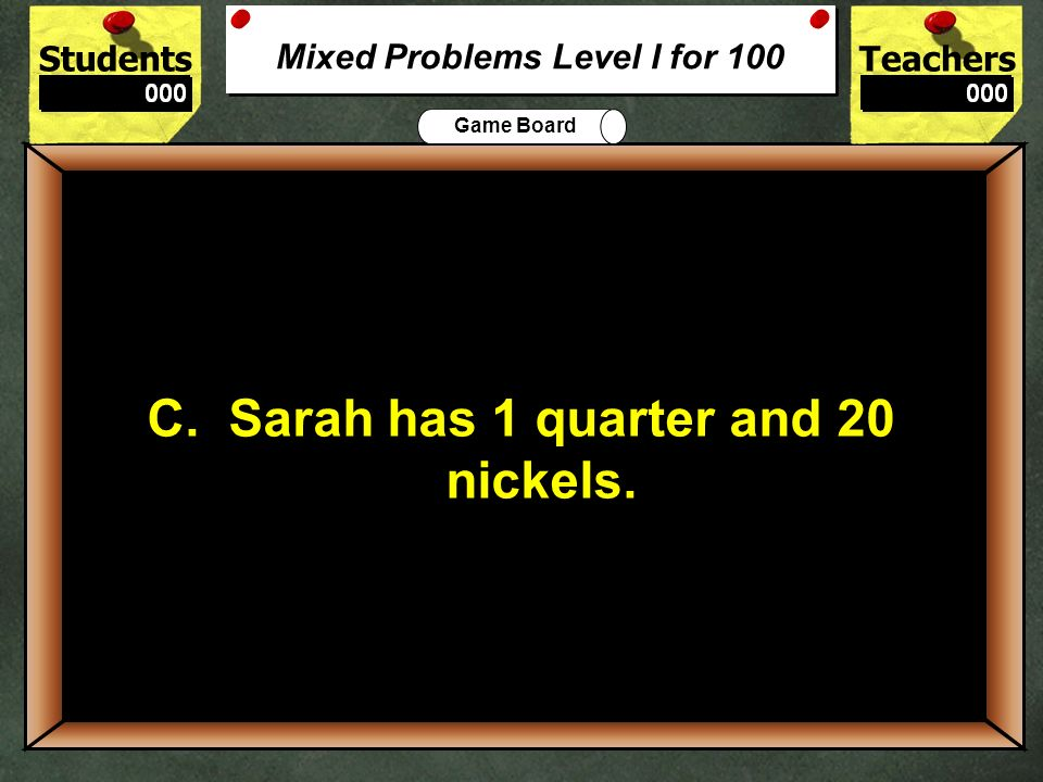 StudentsTeachers Game Board This is your lucky day. You have won a prize! 500 500 Free Points WOW… Data Interpreation for 500