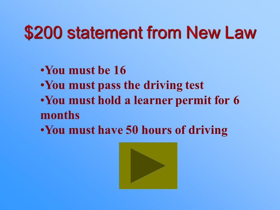 $100 Answer from New Law What is drive between the hours of 6 a.m. to 10 p.m.?