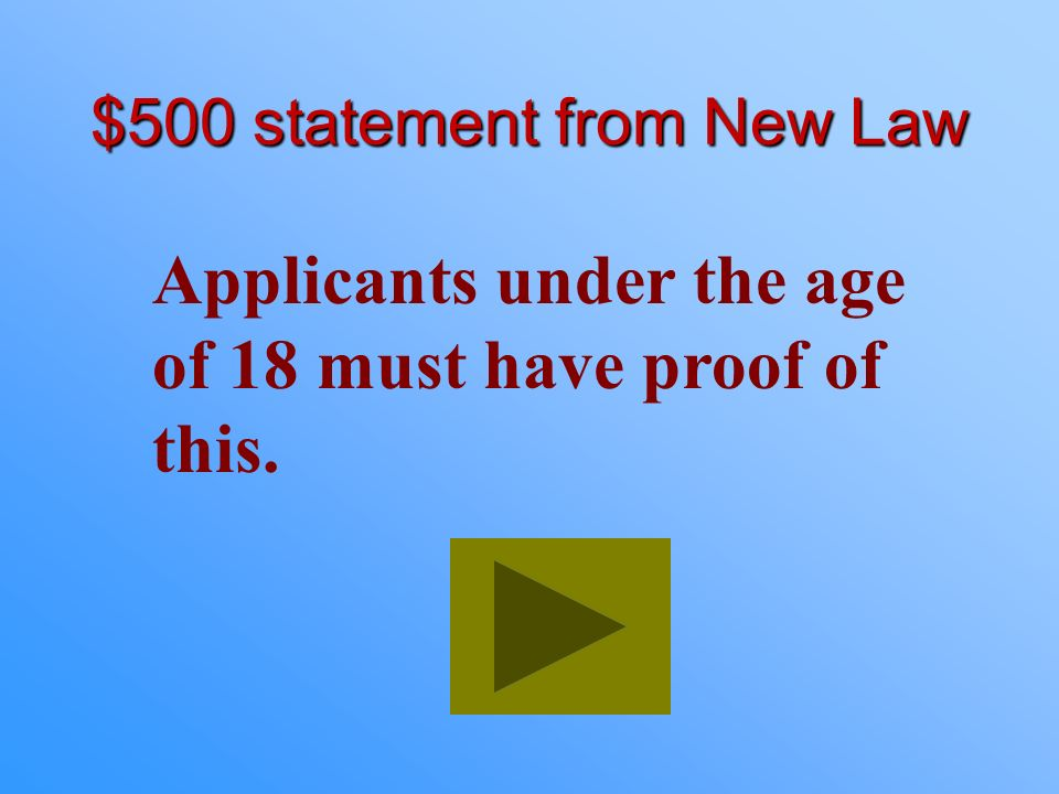$400 Answer from New Law What is the Intermediate Unrestricted License?