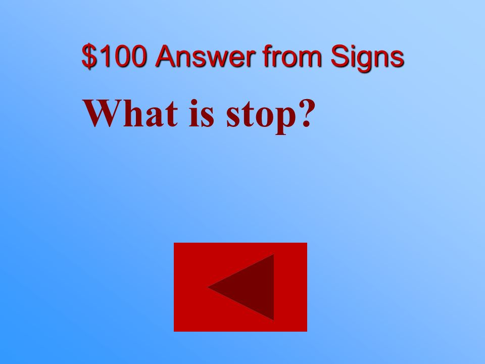 $100 statement from Signs Indicated by the color red.