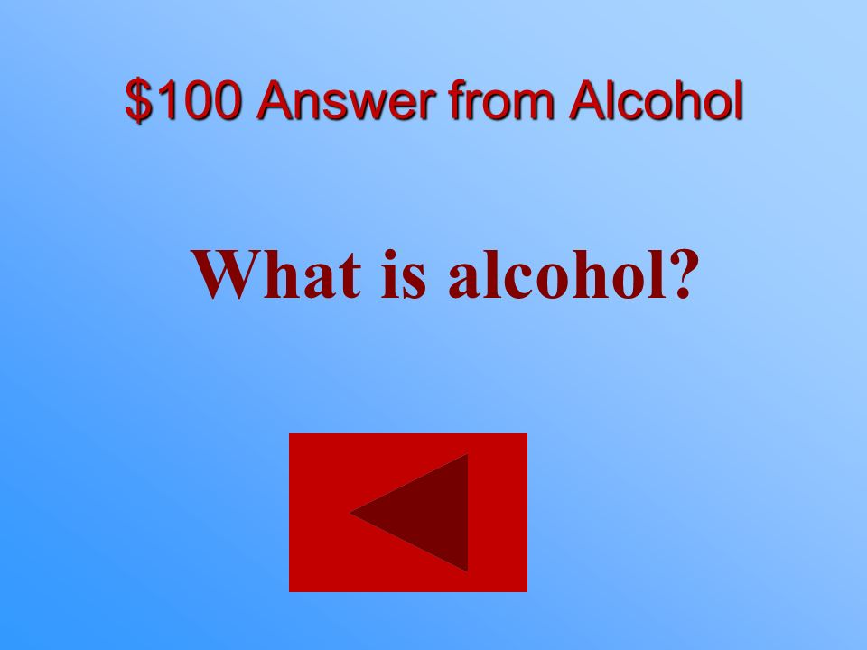$100 statement from Alcohol Within 1-2 minutes this drug accumulates in your blood causing intoxication.