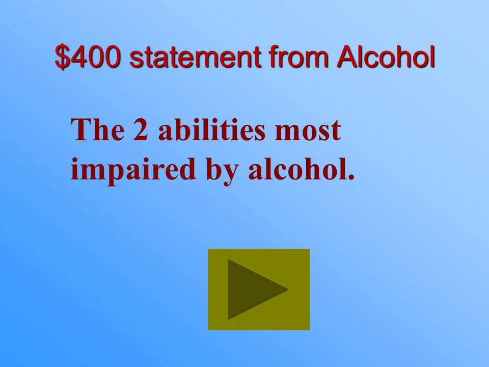 $300 Answer from Alcohol What is two in every five?