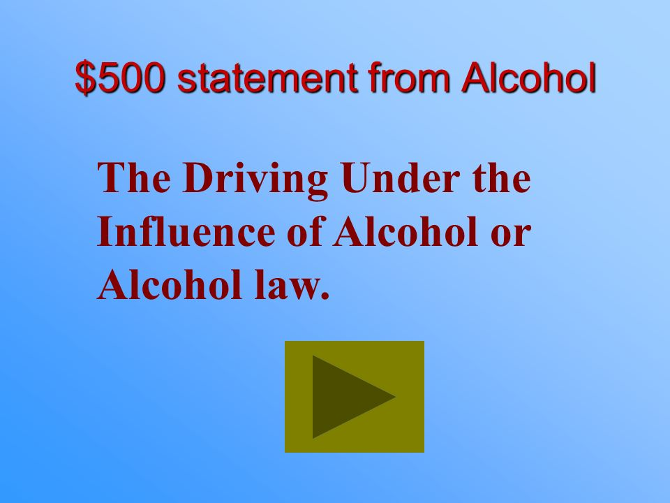 $400 Answer from Alcohol What are judgment and vision?