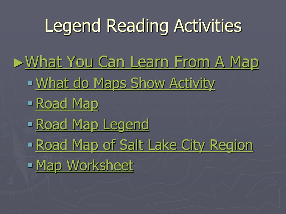 Legend Reading Activities What You Can Learn From A Map What You Can Learn From A Map What You Can Learn From A Map What You Can Learn From A Map What do Maps Show Activity What do Maps Show Activity What do Maps Show Activity What do Maps Show Activity Road Map Road Map Road Map Road Map Road Map Legend Road Map Legend Road Map Legend Road Map Legend Road Map of Salt Lake City Region Road Map of Salt Lake City Region Road Map of Salt Lake City Region Road Map of Salt Lake City Region Map Worksheet Map Worksheet Map Worksheet Map Worksheet