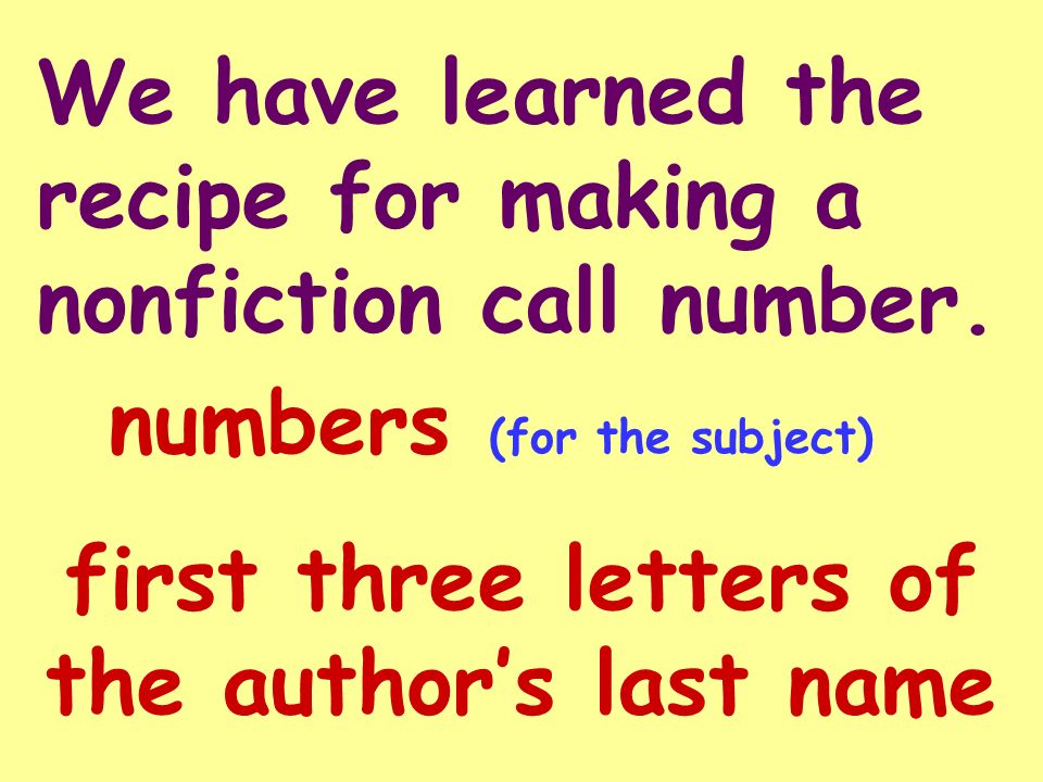 The Numbers in Nonfiction