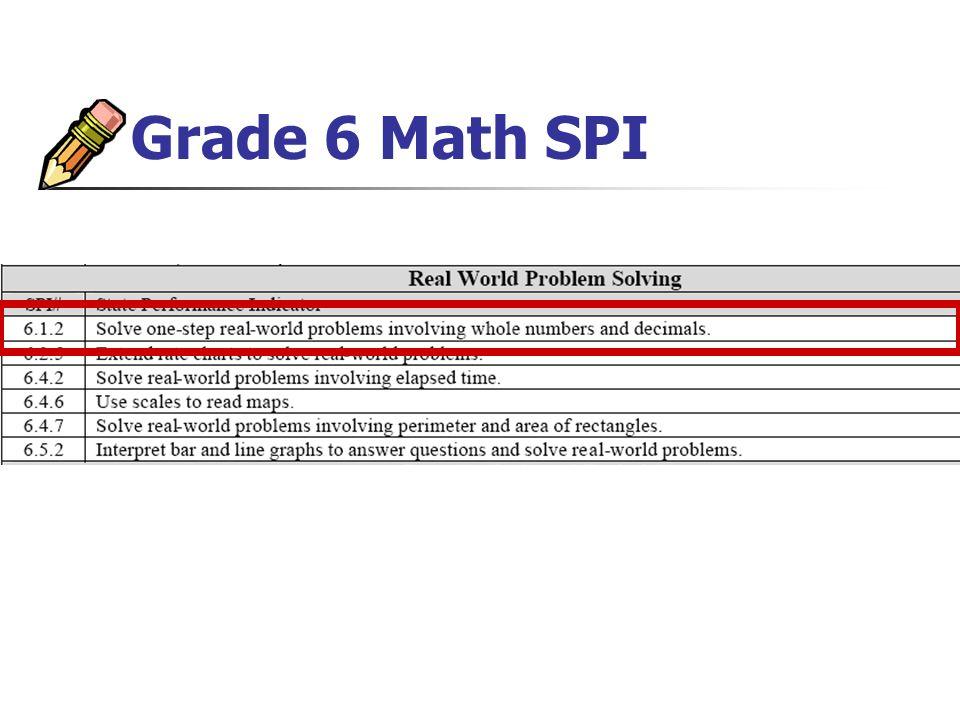 Grade 6 Math SPI