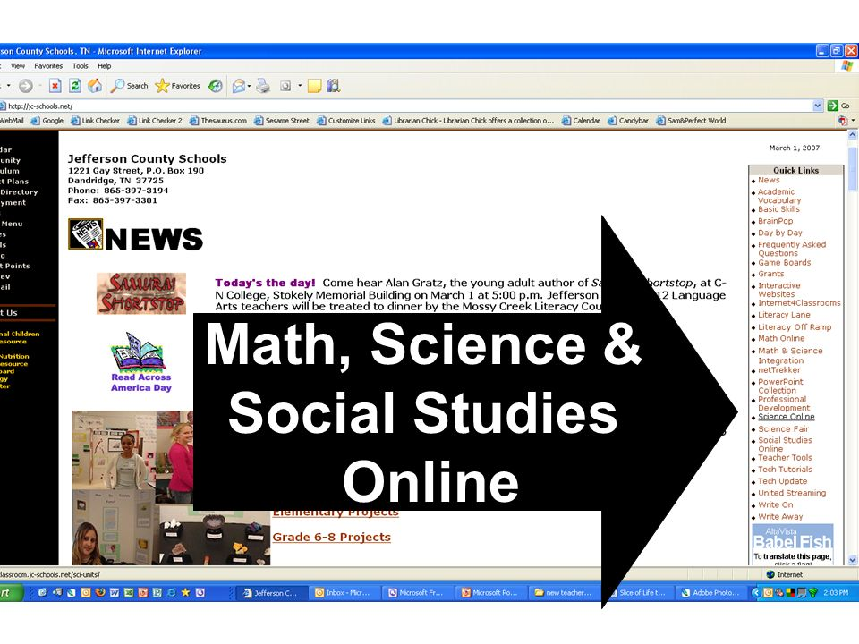 Math, Science & Social Studies Online