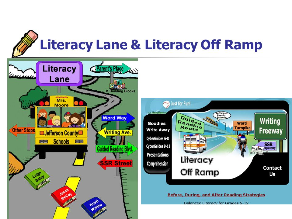 Literacy Lane & Literacy Off Ramp