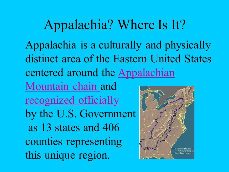 Appalachia.Where Is It.