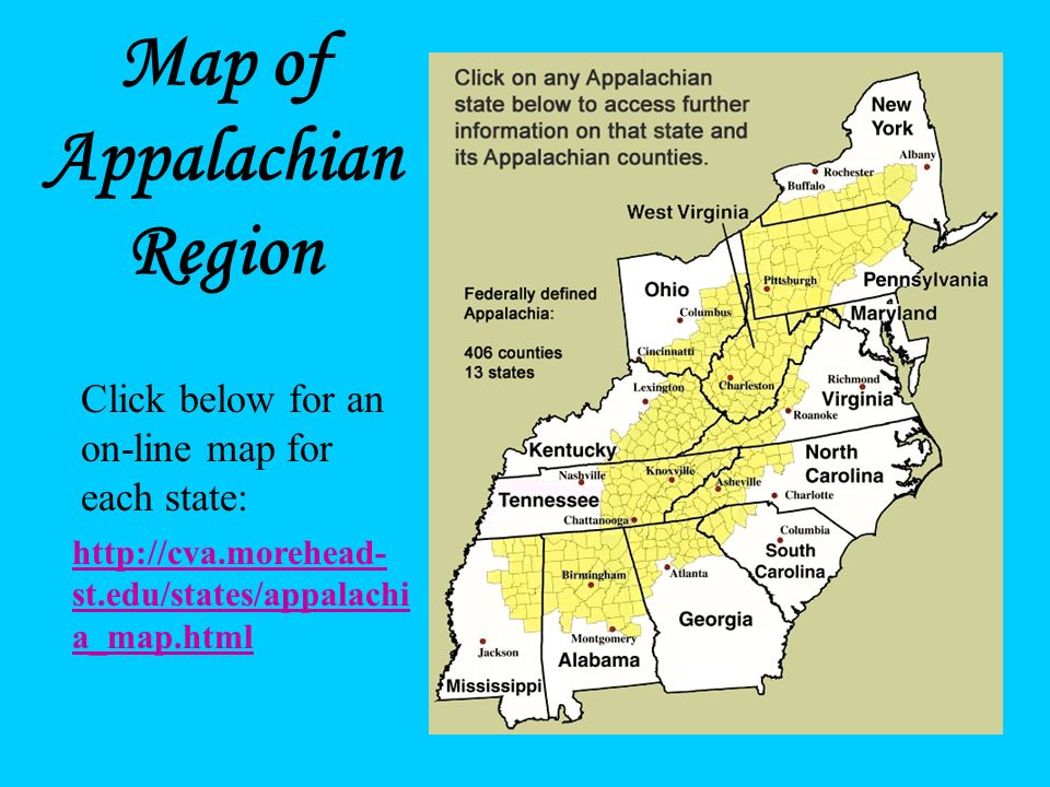 Appalachia? Where Is It? Appalachia is a culturally and physically distinct area of the Eastern United States centered around the Appalachian Mountain
