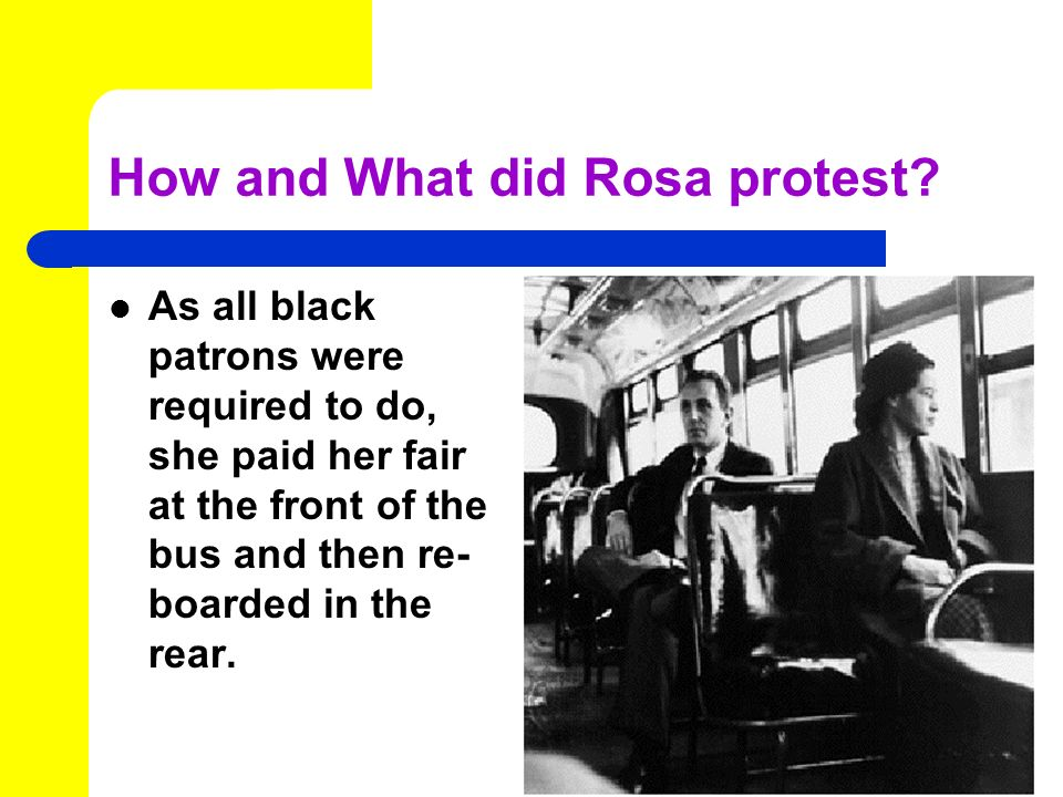 How and What did Rosa protest.