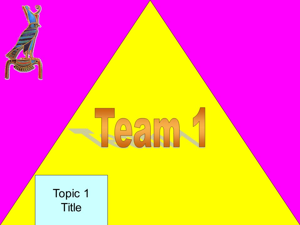 Directions for teacher: Preparation – Type in a different topic for each square. To Play Divide the class into 3 teams. Each team will choose who will