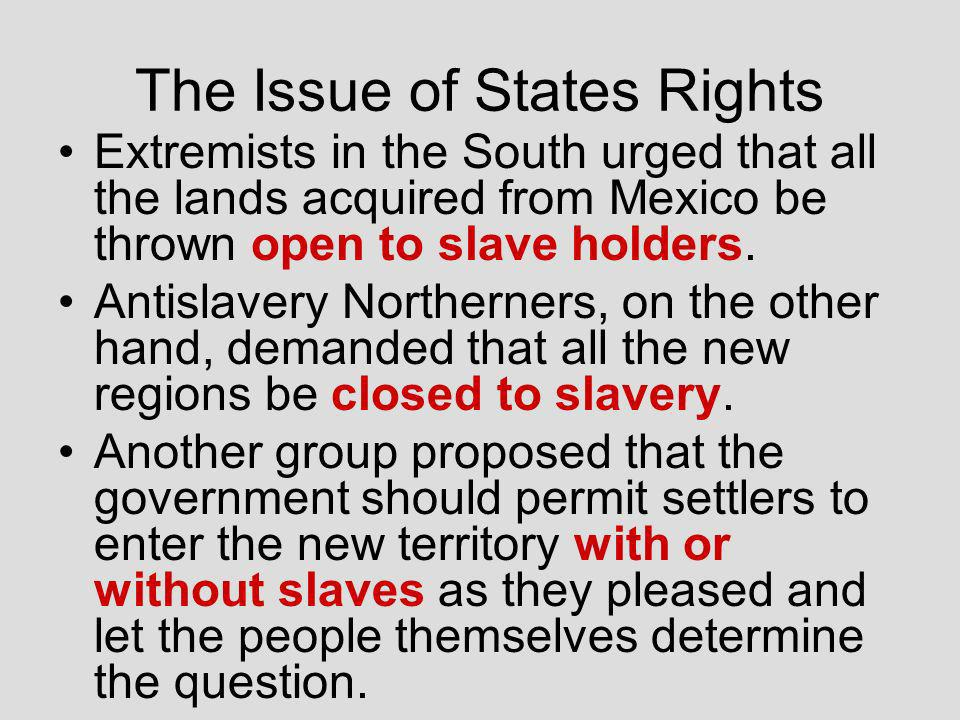 No New Slave States