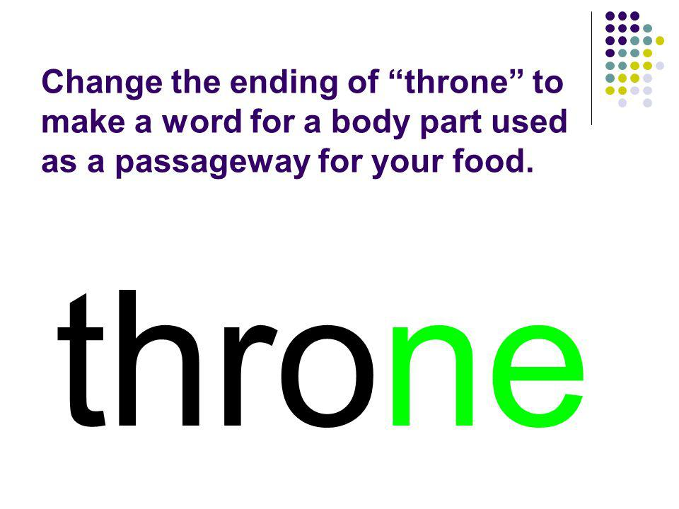 throne You should have spelled…