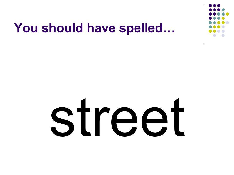 Use the blend from the beginning of strawberry to make a word for a road. strawberry