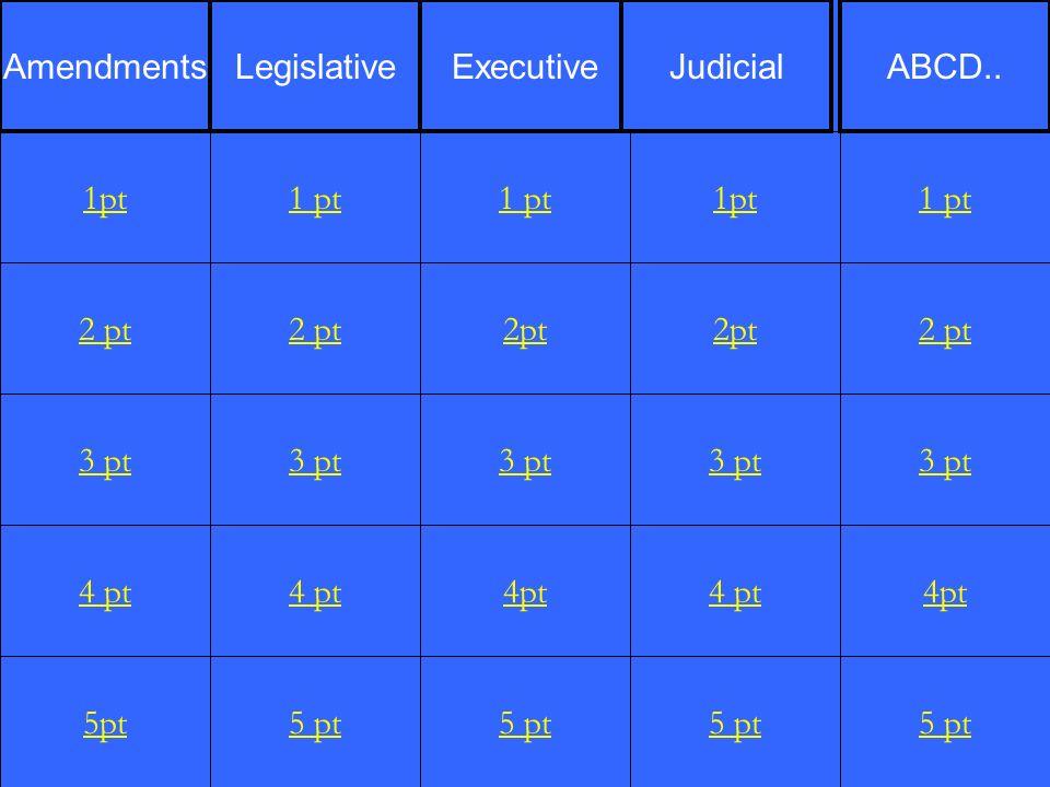 2 pt 3 pt 4 pt 5pt 1 pt 2 pt 3 pt 4 pt 5 pt 1 pt 2pt 3 pt 4pt 5 pt 1pt 2pt 3 pt 4 pt 5 pt 1 pt 2 pt 3 pt 4pt 5 pt 1pt AmendmentsLegislativeExecutiveJudicialABCD..