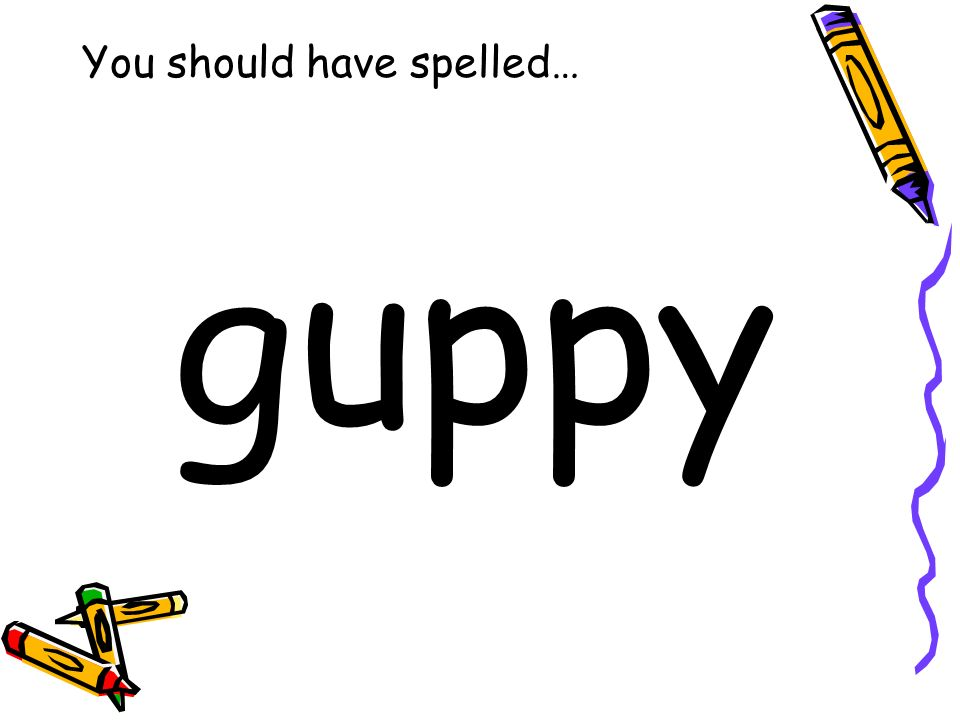 You should have spelled… guppy