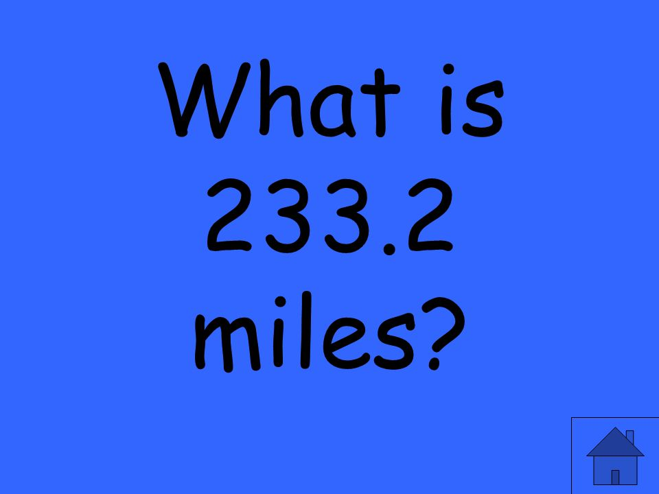 What is 233.2 miles