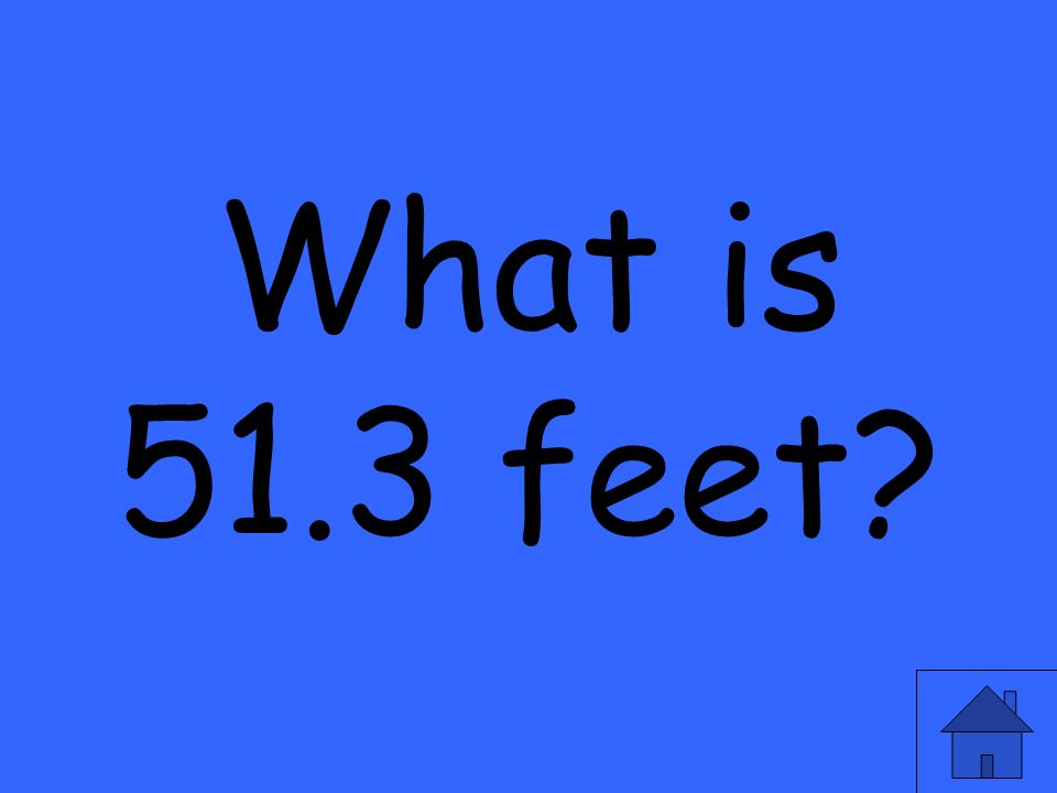 What is 51.3 feet?
