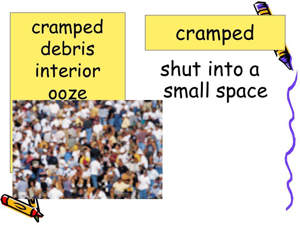 shut into a small space cramped debris interior ooze robotic sediment sonar