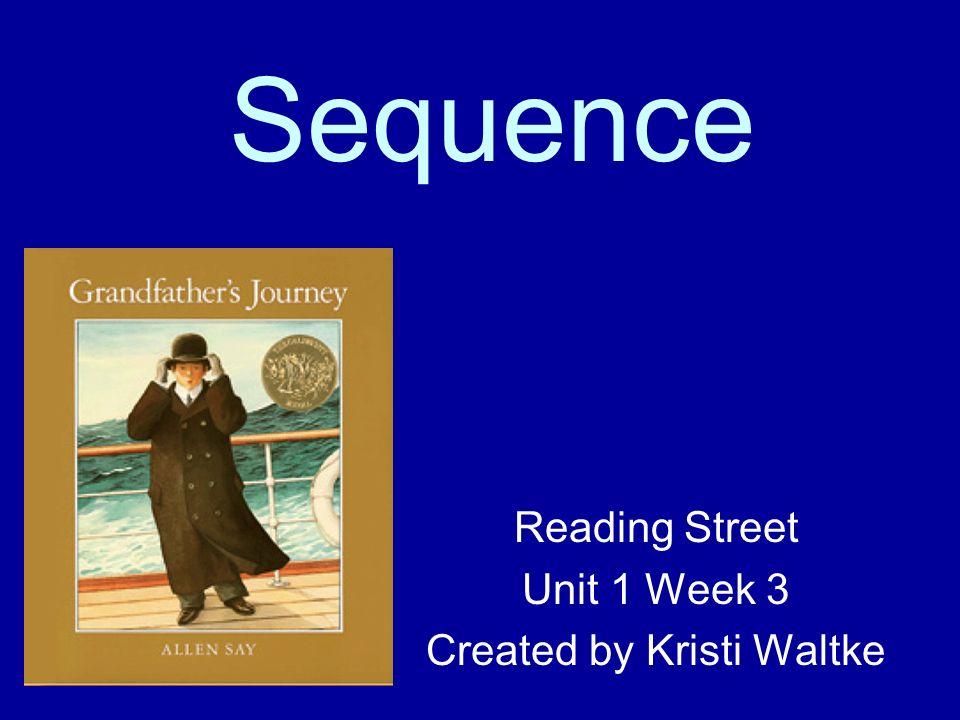 Sequence Reading Street Unit 1 Week 3 Created by Kristi Waltke