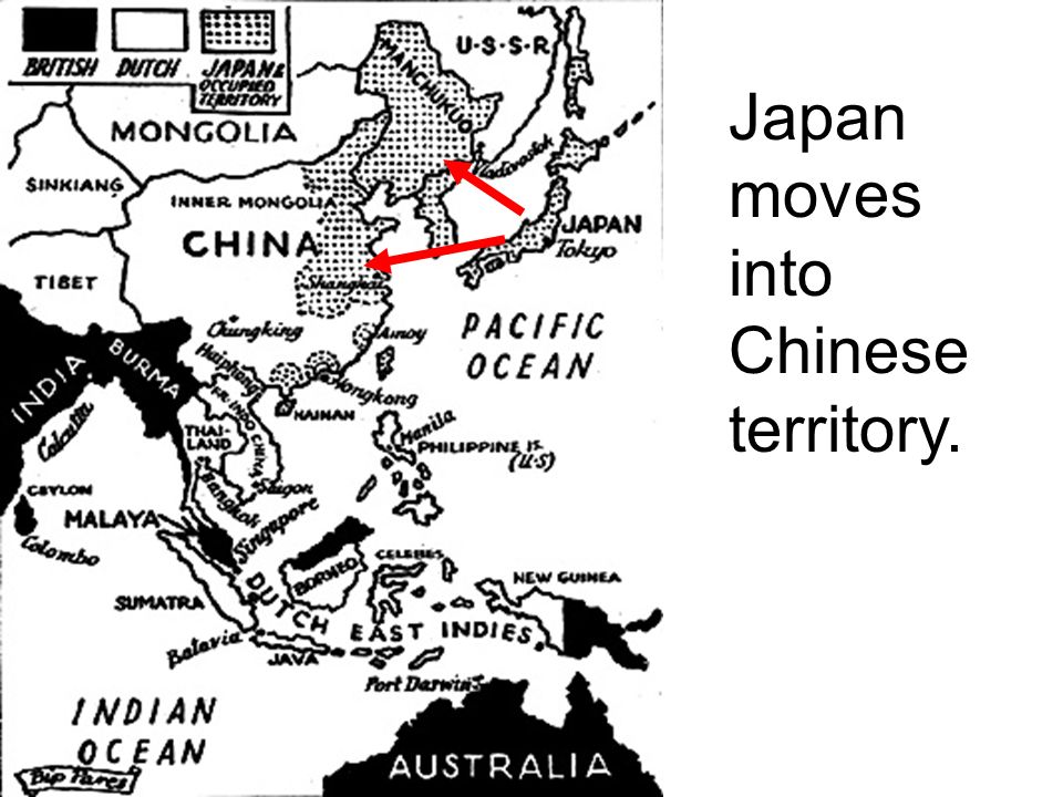 Japan Moves into China Japan has become friends with Germany, but a problem for the United States, as the U.S.