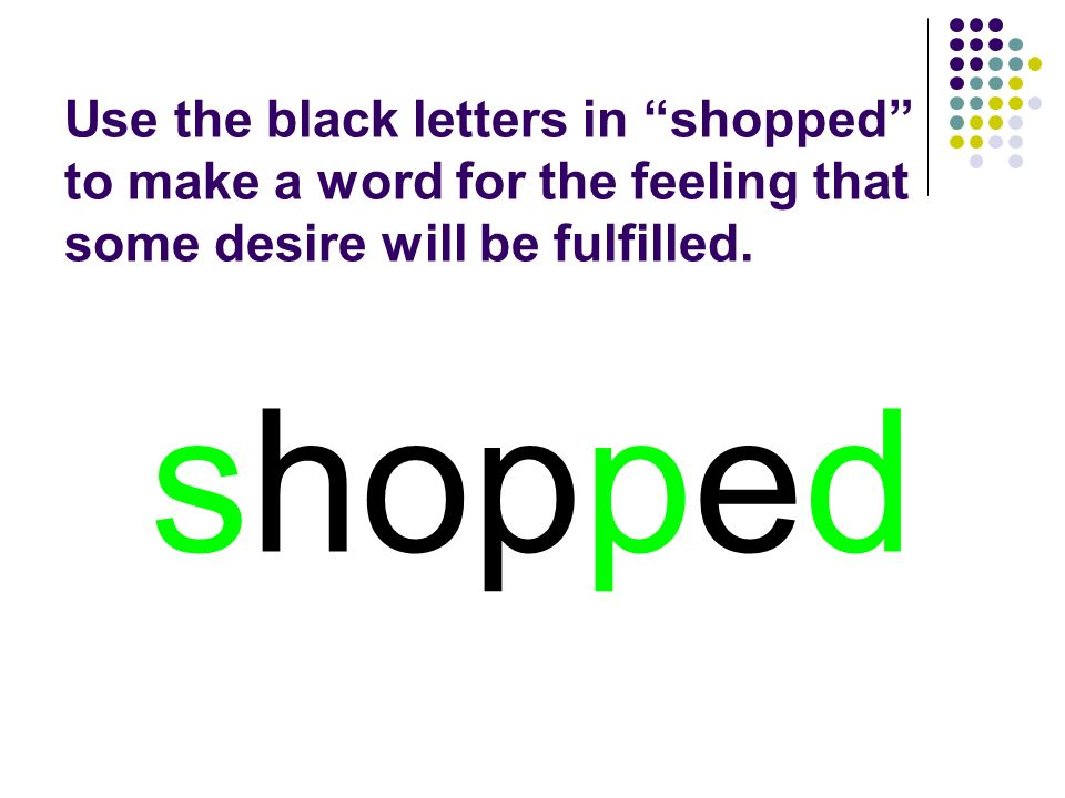 shopped You should have spelled…