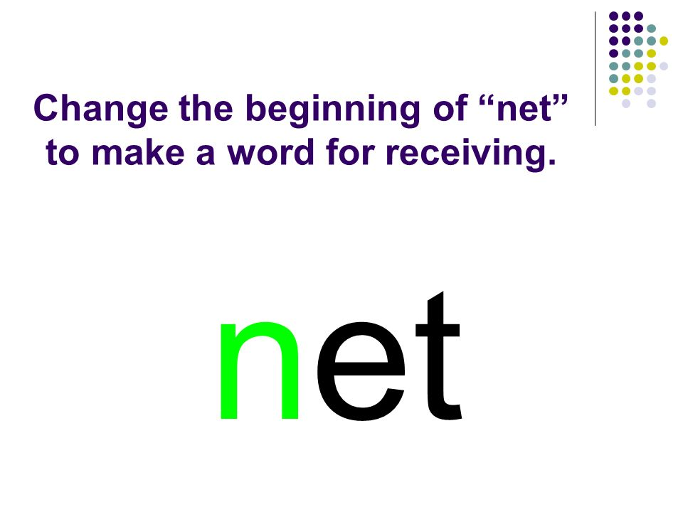 net You should have spelled…