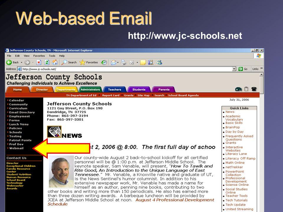 New Teacher Training Fall 2008 Web-based Email